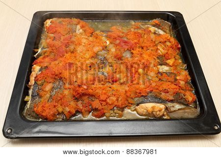 Flounder Baked With Vegetables