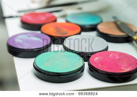 Make up palette with different colors