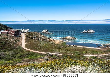 The ocean view from Point Lobos, San Francisco