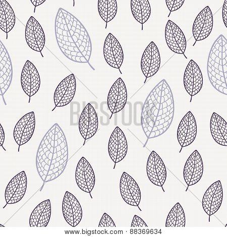 Abstract Leaves Seamless Pattern