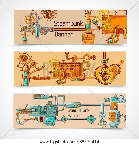 Steampunk Banner Set