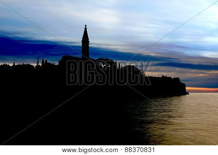 Silhouette Of The Rovinj