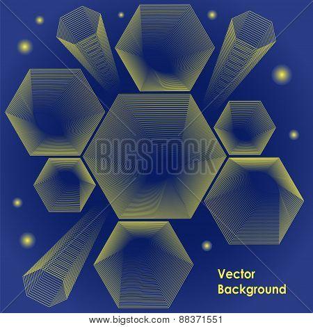 Hexagon Design Vector Backround