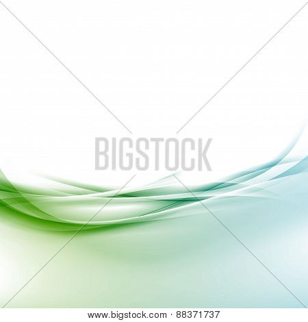 Transparent Border Swoosh Smooth Wave Background