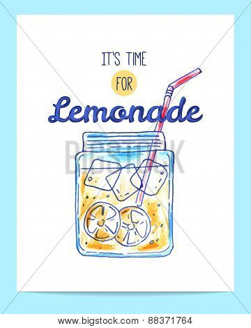 Hand Drawn Bright Lemonade Poster
