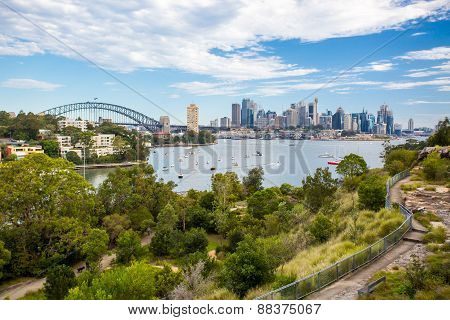 Sydney Skyline Waverton Peninsula Reserve