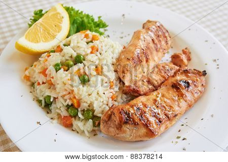 Chicken breast with white rice