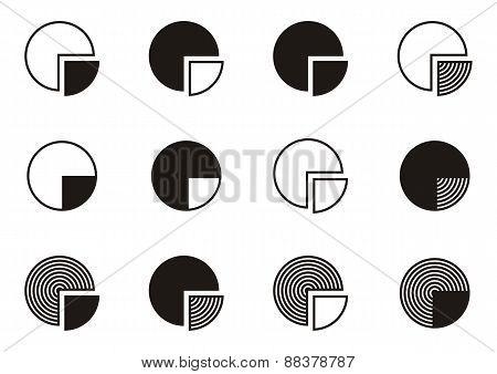 Pie Chart Diagram Icons