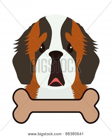 Dog design, vector illustration.