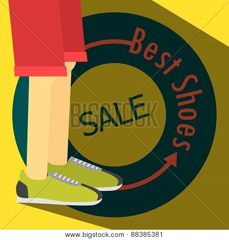SALE poster, running shoes