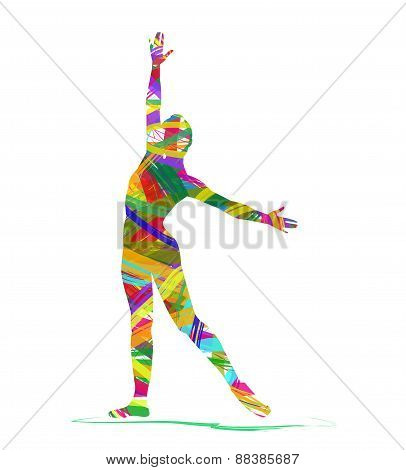 abstract silhouette of a dancer