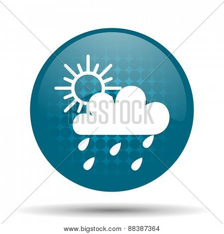 rain blue glossy web icon