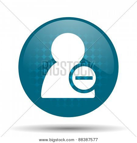 remove contact blue glossy web icon