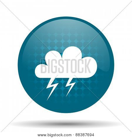 storm blue glossy web icon