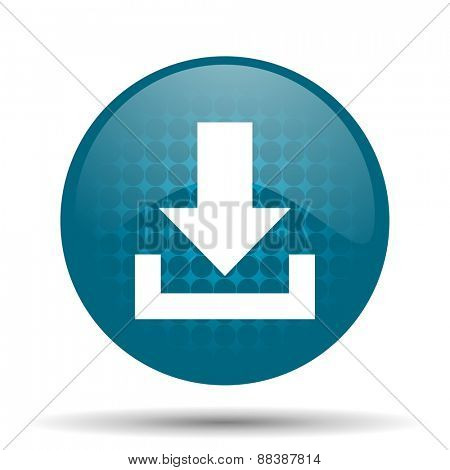 download blue glossy web icon