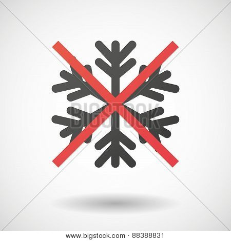 Not Allowed Icon With A Snow Flake