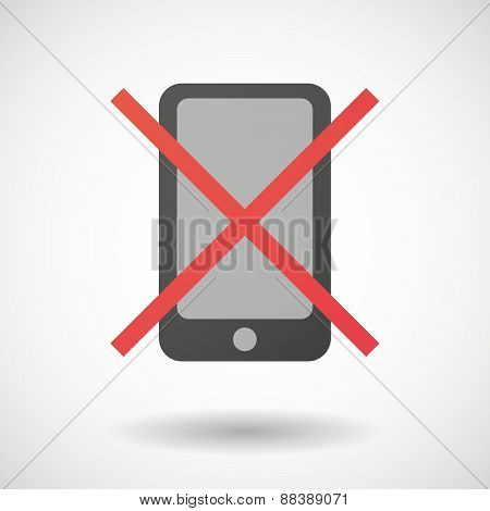 Not Allowed Icon With A Phone
