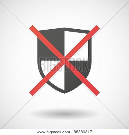 Not Allowed Icon With A Shield