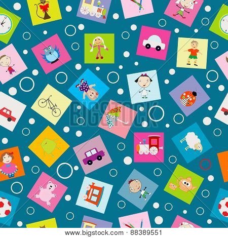 Wrapping Paper For Kids With Cartoon Toys