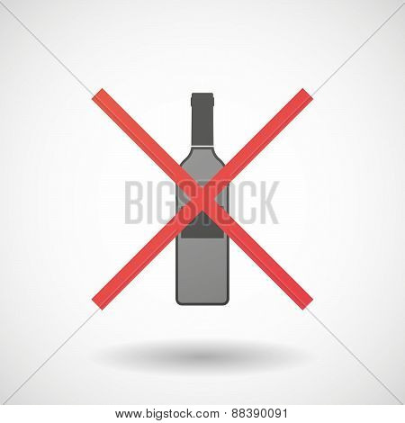 Not Allowed Icon With A Bottle Of Wine