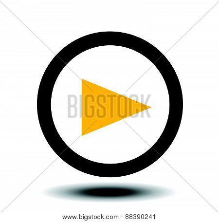 Play button web icon