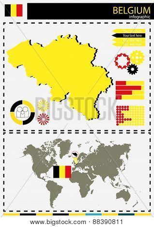 Vector Belgium Illustration Country Nation National Culture Concept