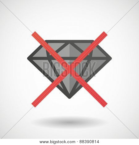 Not Allowed Icon With A Diamond