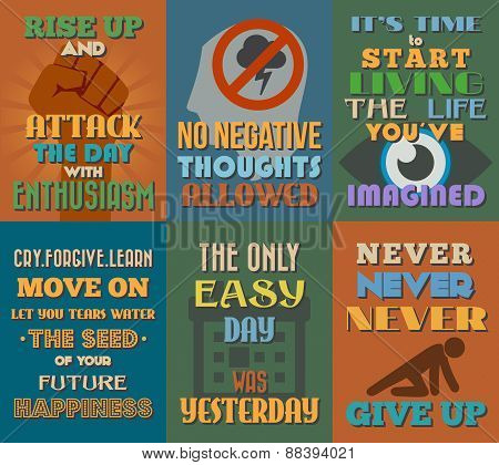 Unusual Motivational And Inspirational Quotes Posters. Set 2.
