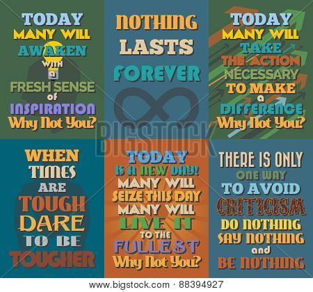 Unusual Motivational And Inspirational Quotes Posters. Set 5.