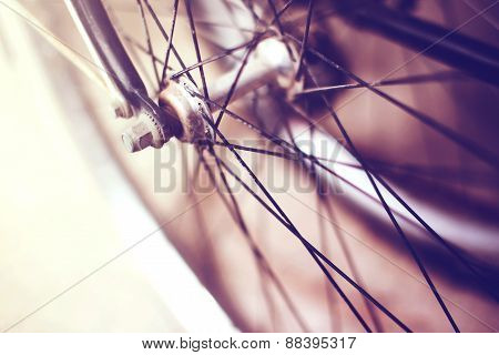bycicle particular blured