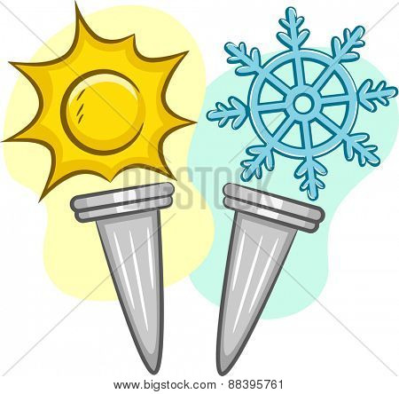 Illustration of Torches for Summer and Winter Games