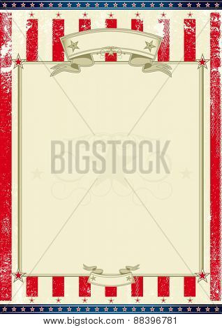 American frame. A american poster for your message. Perfect background for your publicity....
