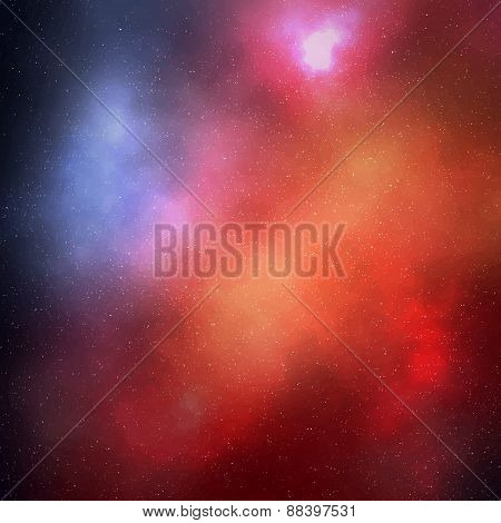 Abstract Colorful Space Background With Stars