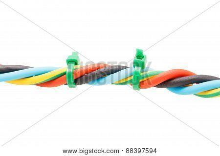 Closeup Electric Cable