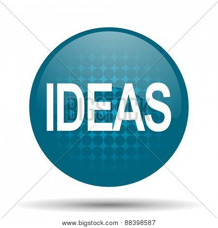 ideas blue glossy web icon
