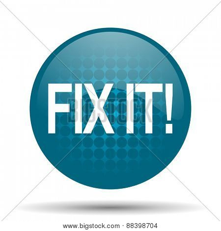 fix it blue glossy web icon