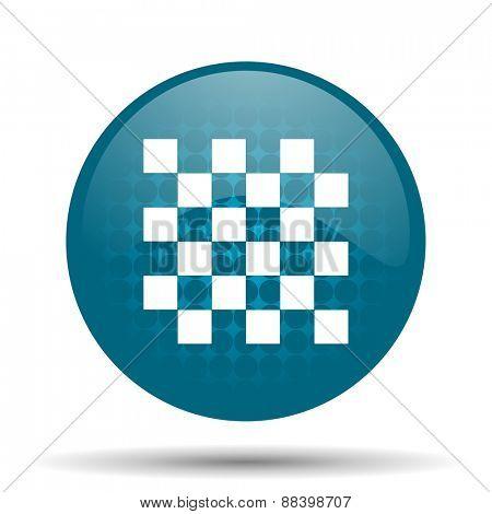 chess blue glossy web icon