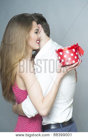 Tender Romantic Young Couple