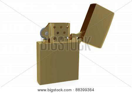 Metallic Golden Lighter