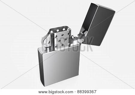 Metallic Silver Lighter