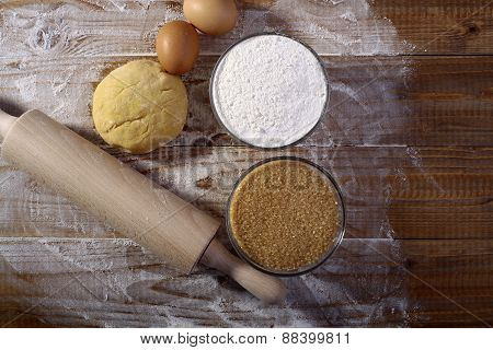 Collection Of Ingredients For Making Pastry