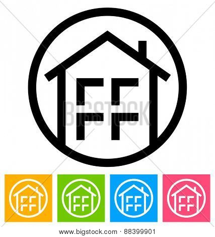 Round Home Symbol