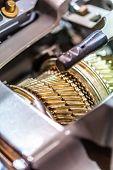 stock photo of muscle-car  - Car Engine closeup - JPG
