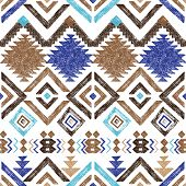 picture of tribal  - Bright hand drawn tribal seamless pattern - JPG