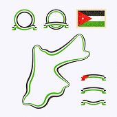 picture of nationalism  - Outline map of Jordan - JPG