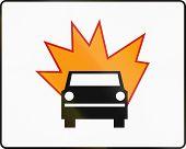 stock photo of motor vehicles  - Polish additional traffic sign - JPG