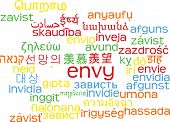 picture of envy  - Background concept wordcloud multilanguage international many language illustration of envy - JPG