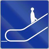 pic of escalator  - A Polish traffic sign  - JPG