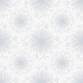 Постер, плакат: Light Seamless Pattern With Flower Chrysanthemum
