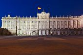 foto of royal palace  - Royal Palace at Madrid Spain  - JPG